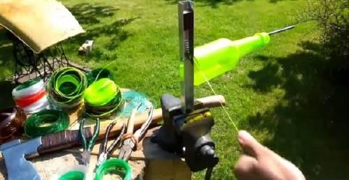 Hacer hilos y cuerdas para diversos usos reciclando botellas Pet