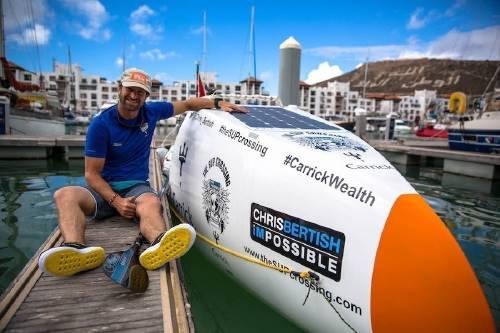 Este hombre cruzó el oceáno Atlántico con solo un remo
