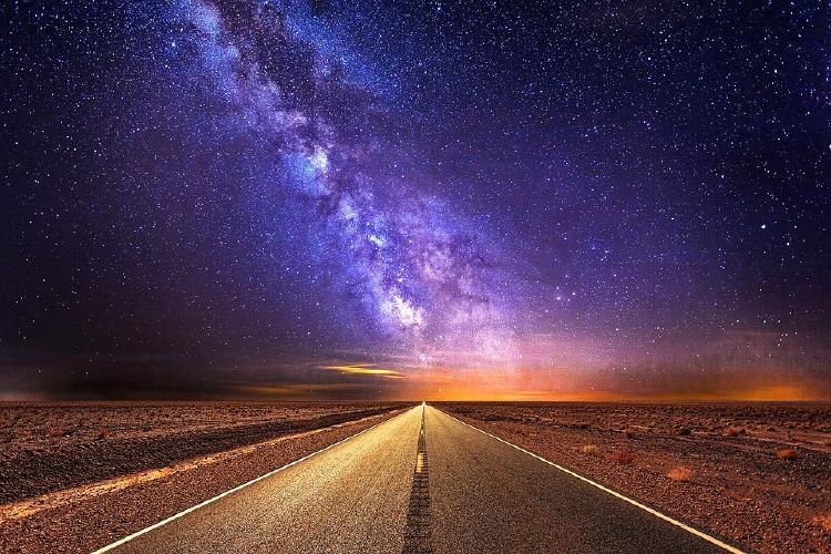Carretera hacia la vía lactea