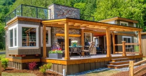 Una casa diminuta pero acogedora, que puedes imitar con estos planos para su c..