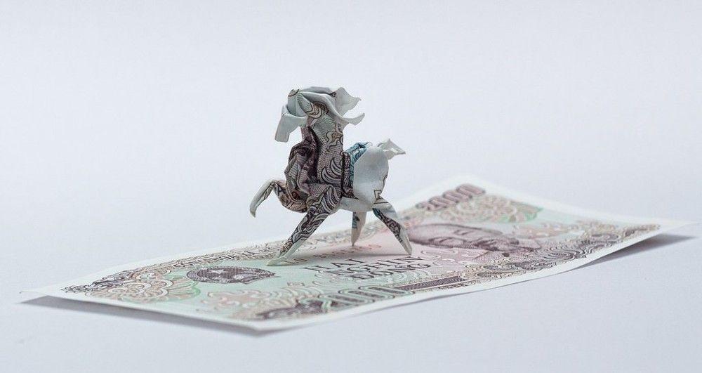 Los increíbles origamis de Nguyen Hùng Cuong- billetes