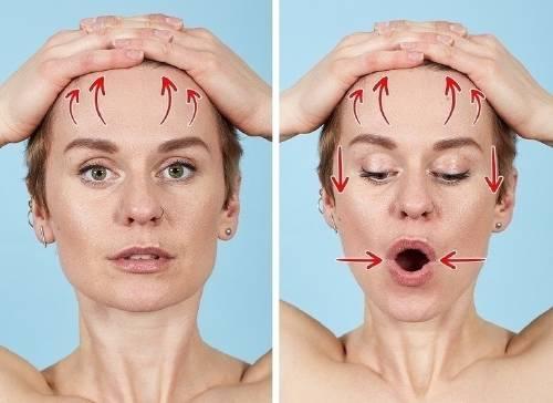 """Ejercicios de \""""yoga facial\"""" para deshacerte de las arrugas en 12 minutos"""