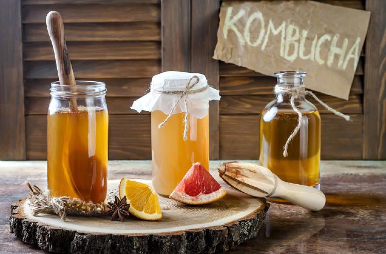 Kombucha de limon y pomelo