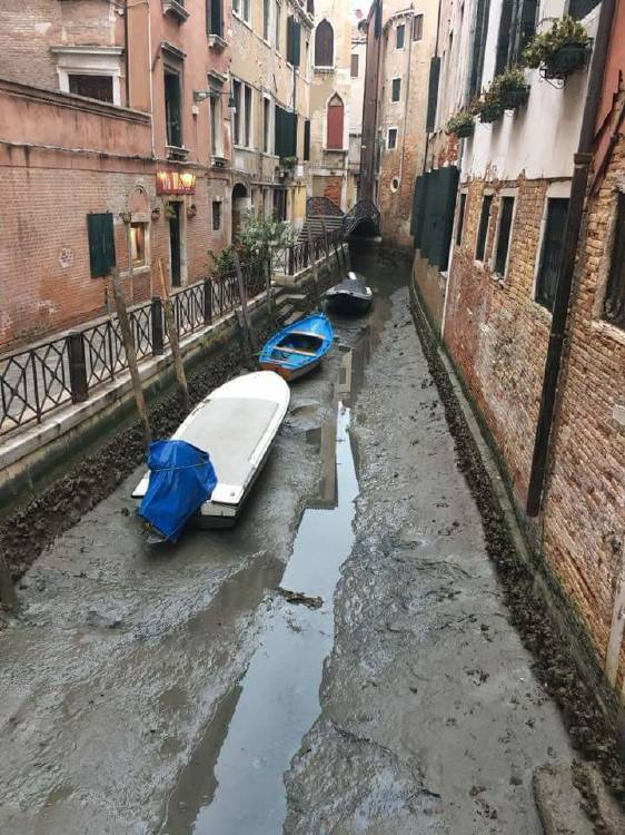 venecia sin agua