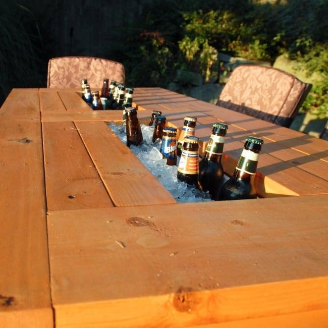 Mesa conservadora de bebidas