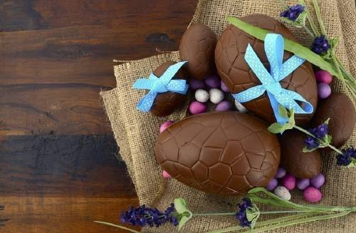 Huevo de Pascua de chocolate, ¡sin azúcar!
