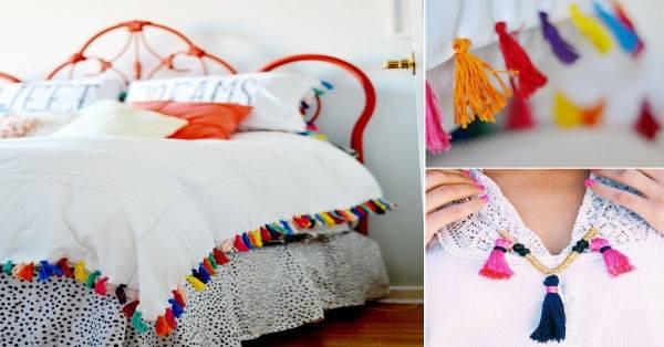 Renueva espacios usando coloridas borlas