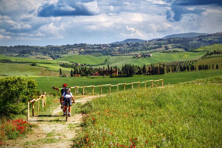 Toscana Italia bicicleta