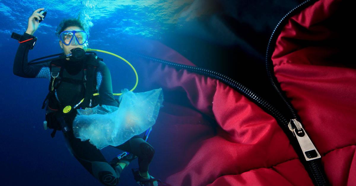 Crean prendas de moda con plástico extraído del mar
