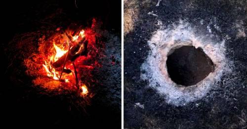 Este misterioso agujero escupe fuego en Estados Unidos y nadie sabe por qué
