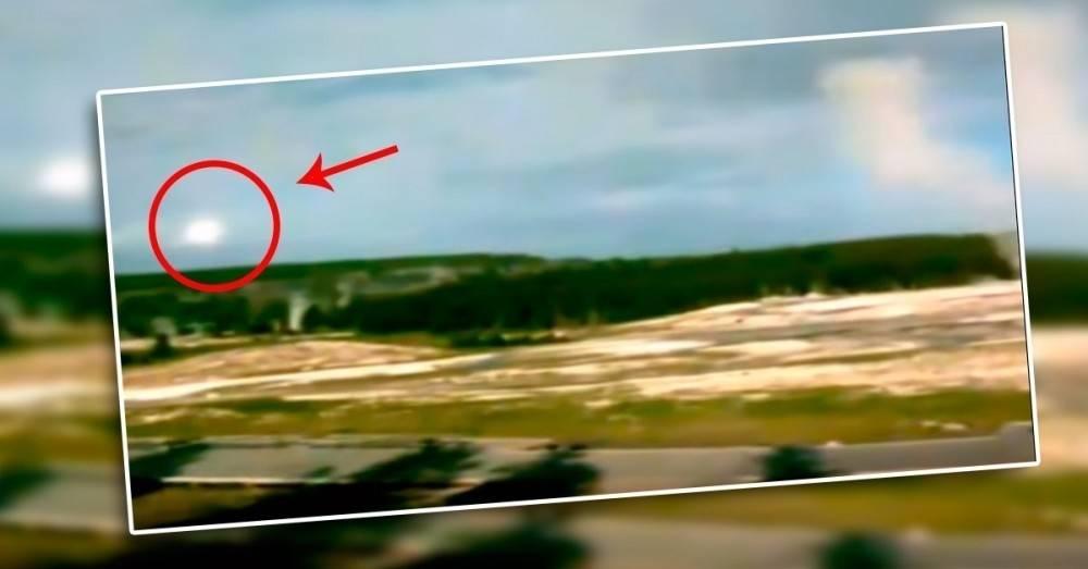 """El misterioso video viral del """"OVNI"""" que sobrevuela un supervolcán y tiene pr.."""