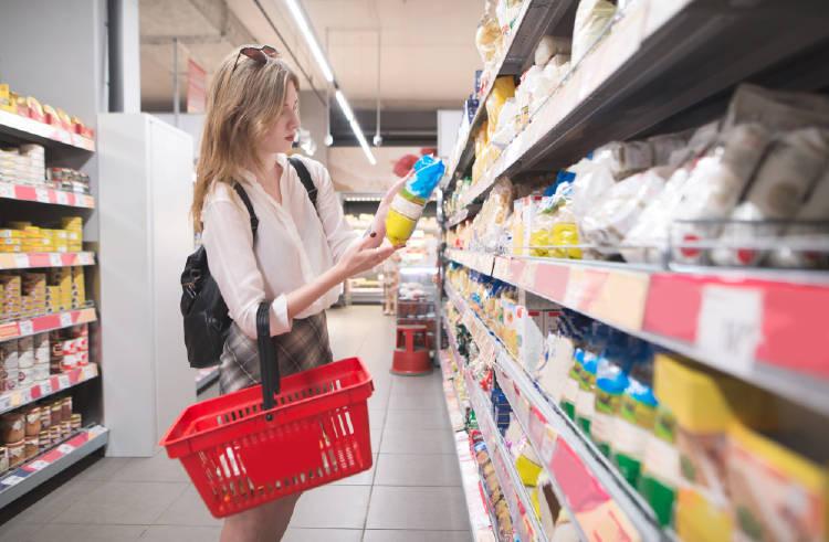 etiqueta supermercado