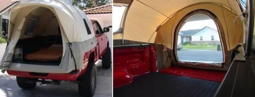 Tiendas de campaña móviles que se montan en la caja de una camioneta