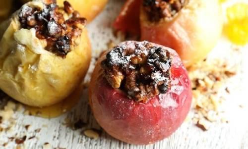 Manzanas rellenas deliciosas