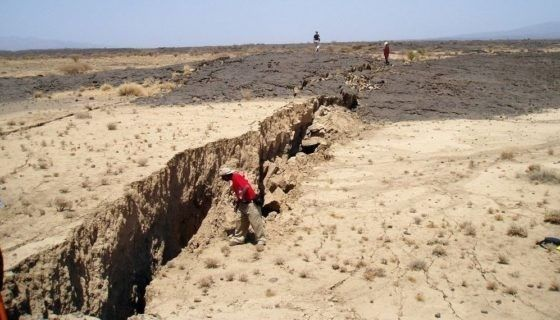 El Valle del Rift en el este de África se extiende más de 3.000 km desde el Golfo de Adén en el norte hacia Zimbabwe en el sur