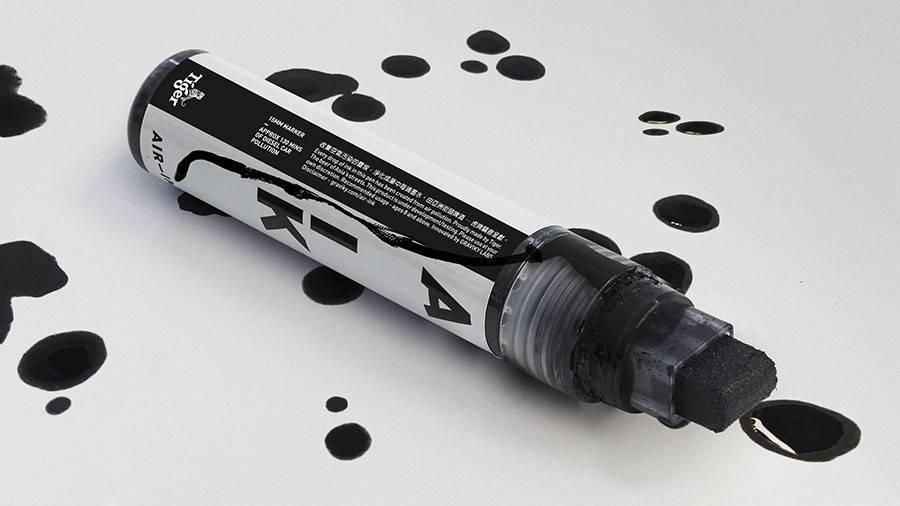 Rotuladores ultraecológicos hechos a base de la contaminación del aire