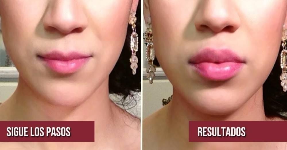 Cómo hacer que tus labios se vean más carnosos naturalmente