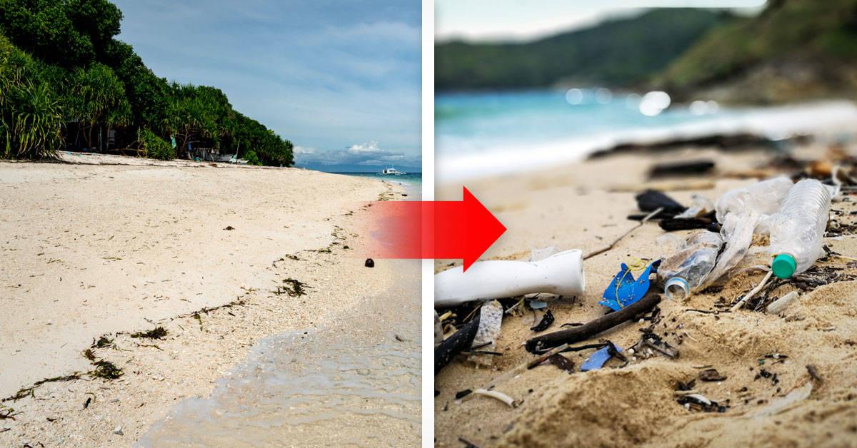 Era una isla virgen y ahora está ocupada por 18 toneladas de plásticos