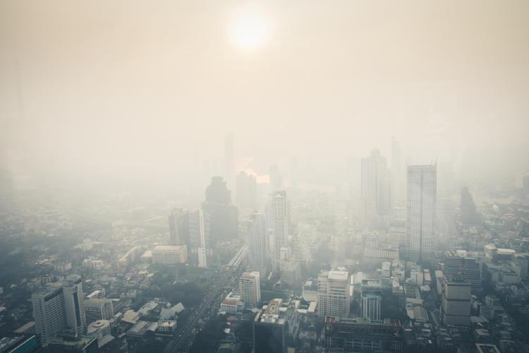 cielo tapado polucion
