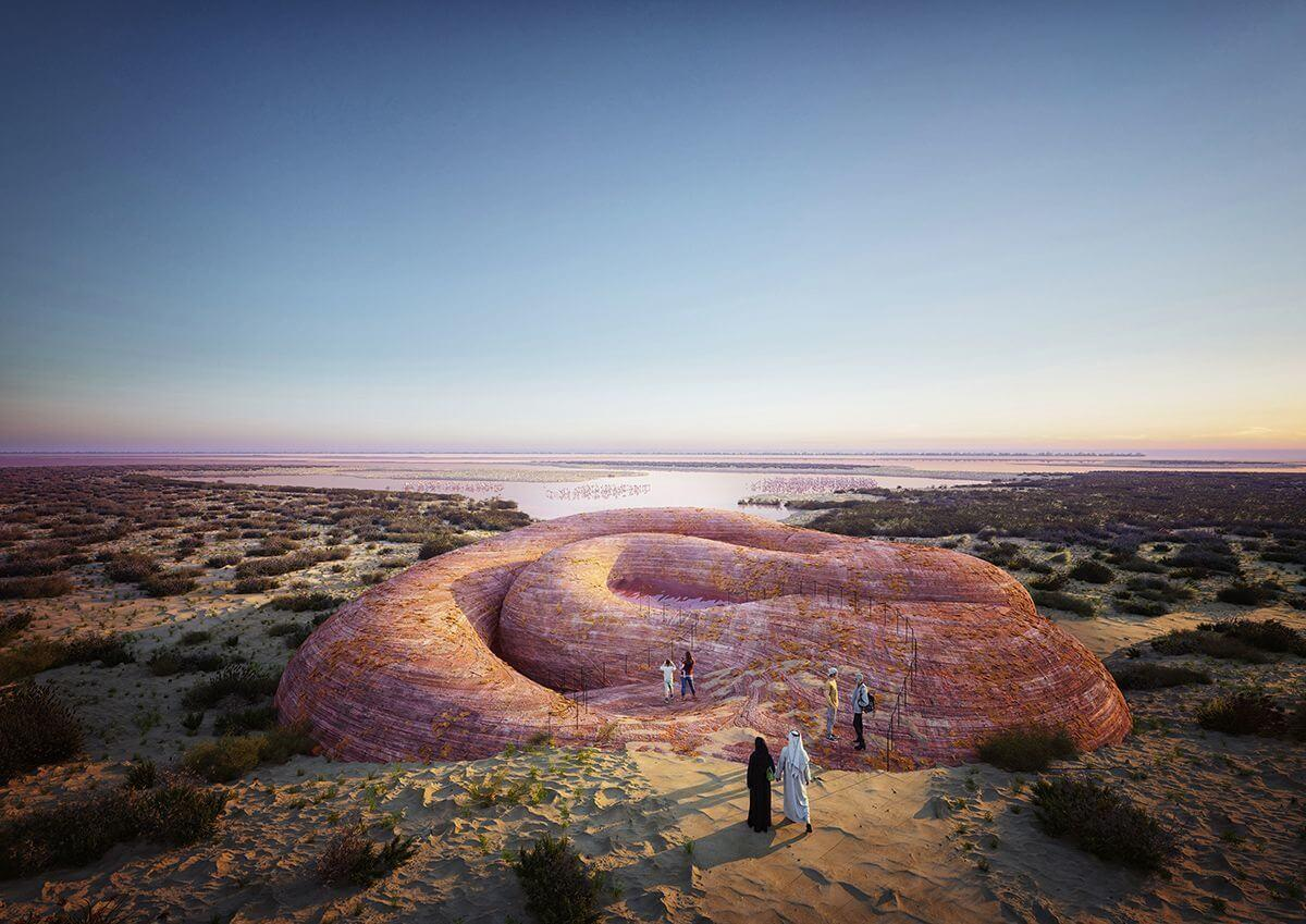 Abu Dhabi Flamingo Visitor Center: cuando el diseño y tecnología se funden con l