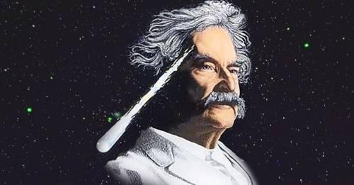 Mark Twain, el hombre que nació y murió junto al cometa Halley