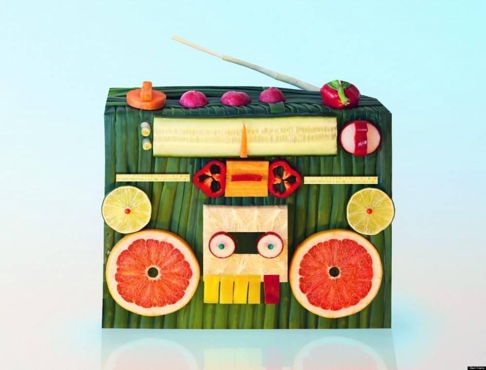 Dan cretu: arte creativo con frutas