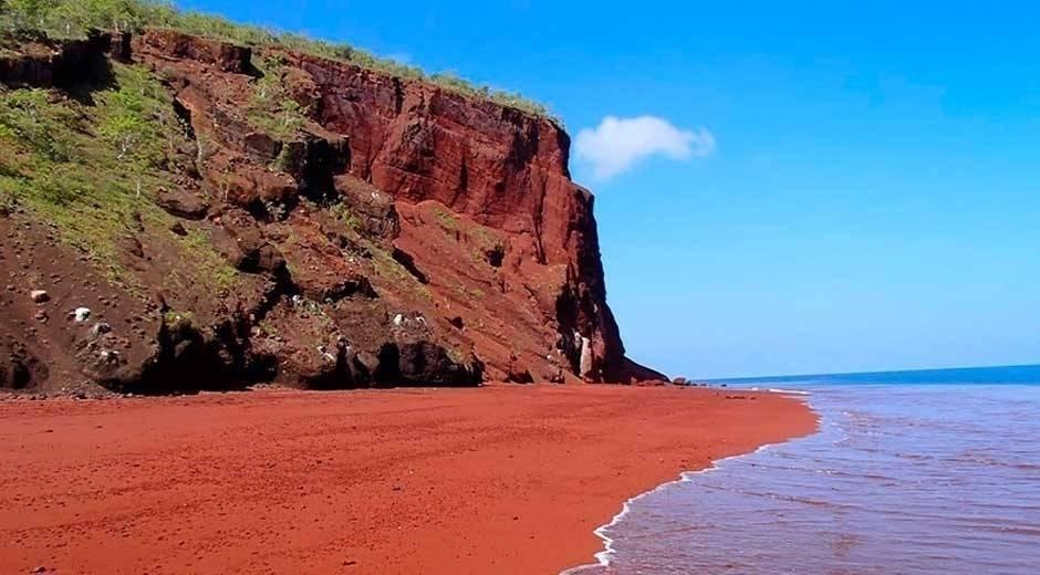 Siete playas del mundo con los colores del arcoiris