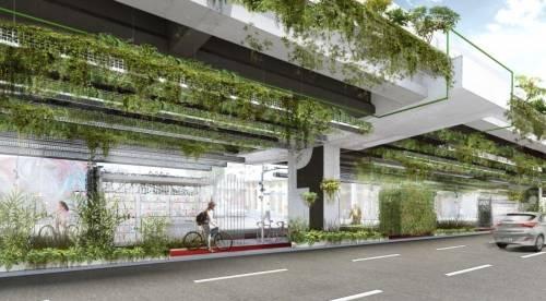 Jardín colgante en la autopista de San Pablo podría filtrar la mayoría del ..
