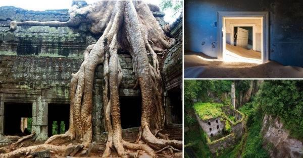 30 lugares abandonados tomados por la naturaleza