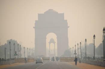 aire contaminado delhi india