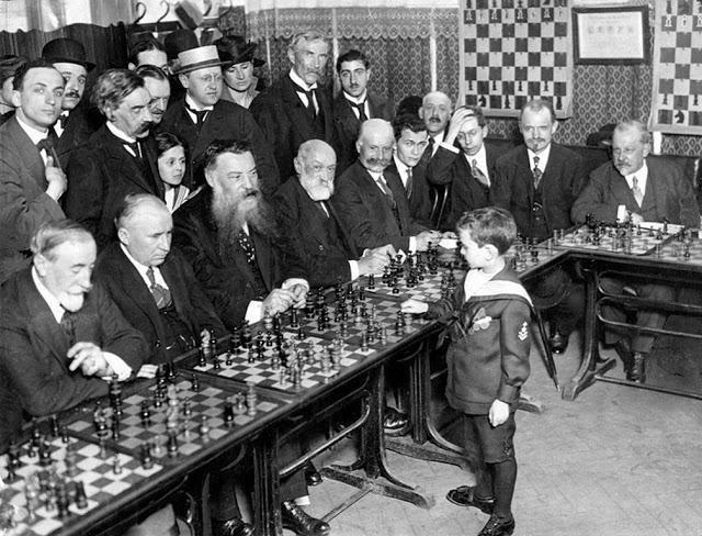 fotografías históricas ajedrez