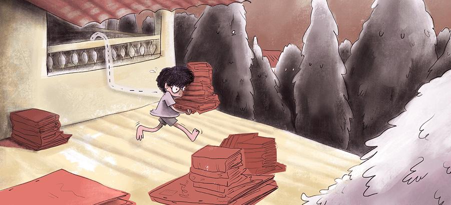libros infantiles corriendo