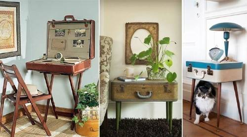 21 ideas para decorar la casa ¡con maletas!