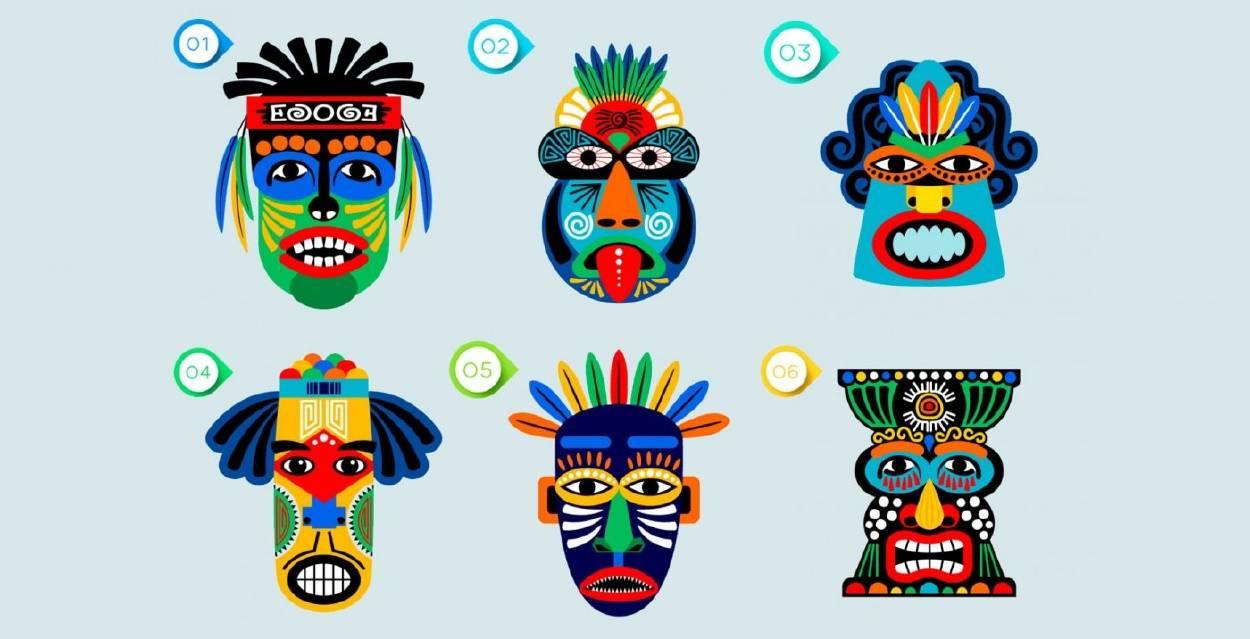Elige una máscara y descubre cuál es tu actitud frente a la vida