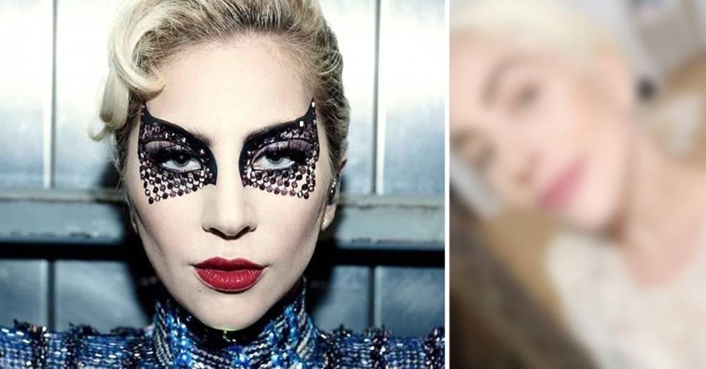 La foto de Lady Gaga sin maquillaje: muchos creen que así está mucho más be..