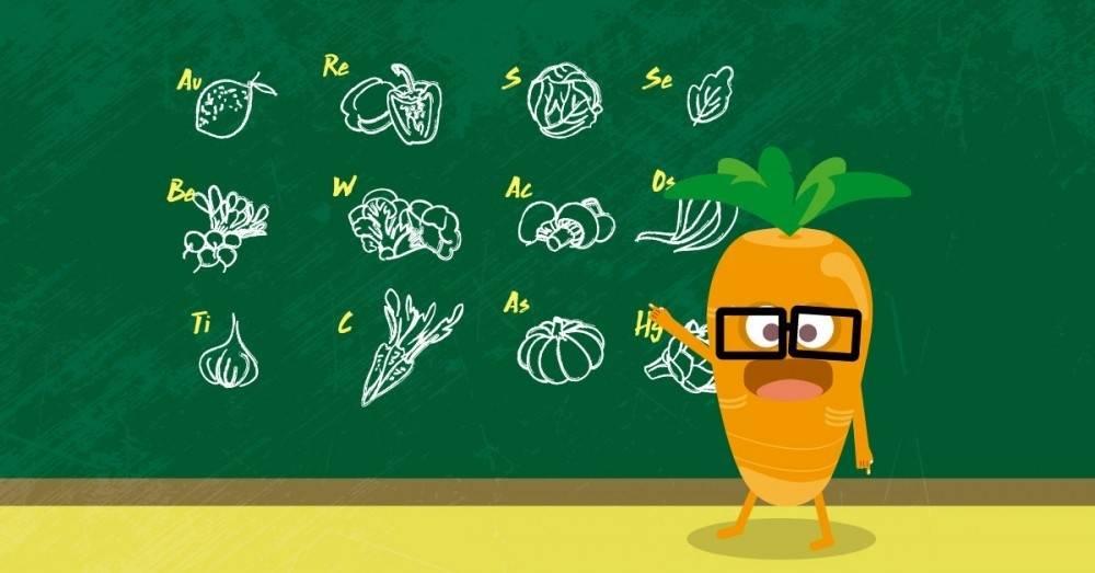 """Ésta es la \""""tabla periódica de los alimentos\"""" que deberías conocer"""