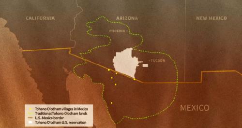 Este pueblo quedará dividido a la mitad por el muro en la frontera entre EEUU..