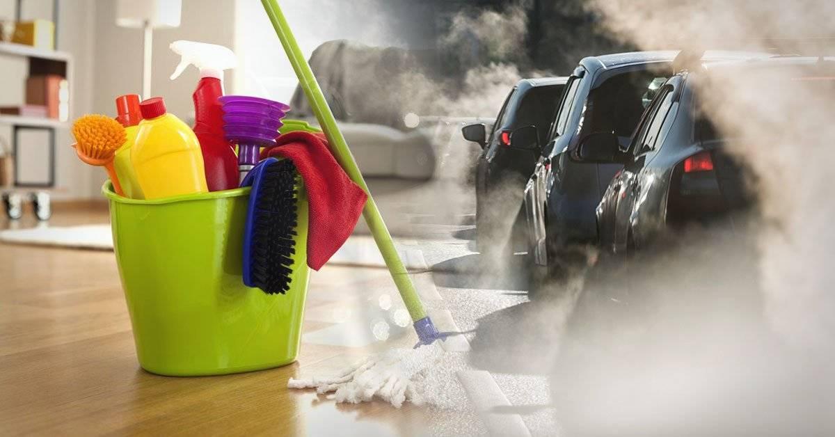 ¿Sabías que los productos de limpieza contaminan tanto como los automóviles?