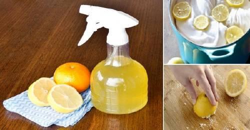 26 maneras de usar cítricos para limpiar en el hogar