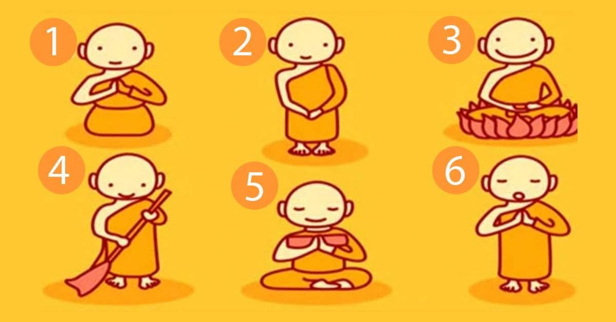 Elije uno de estos seis monjes budistas y descubre el mensaje que tiene para ti