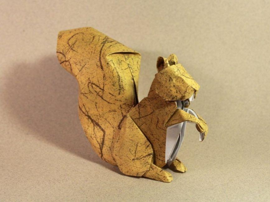 Los increíbles origamis de Nguyen Hùng Cuong- ardilla
