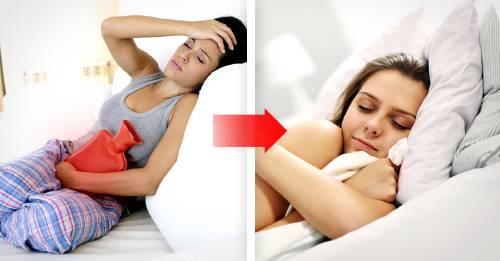 Esta es la mejor posición para dormir si tienes dolores menstruales