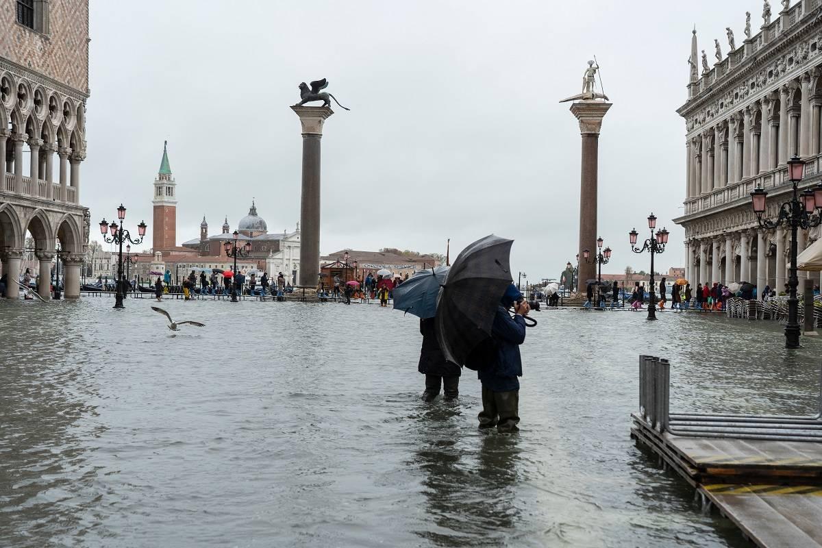 """Inundaciones en Venecia: la ciudad se prepara para otra """"agua alta"""""""