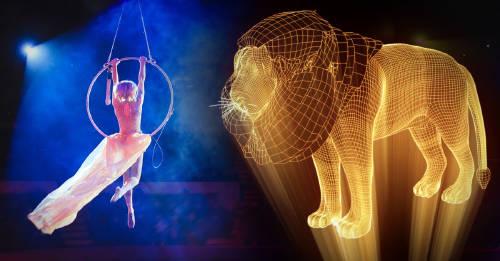 Un circo de Alemania usa hologramas en vez de animales