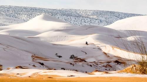 Nevó otra vez en el desierto del Sahara: ¿por qué hace dos años que ocurre..