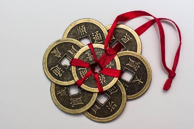 Monedas chinas: amuleto de la buena suerte