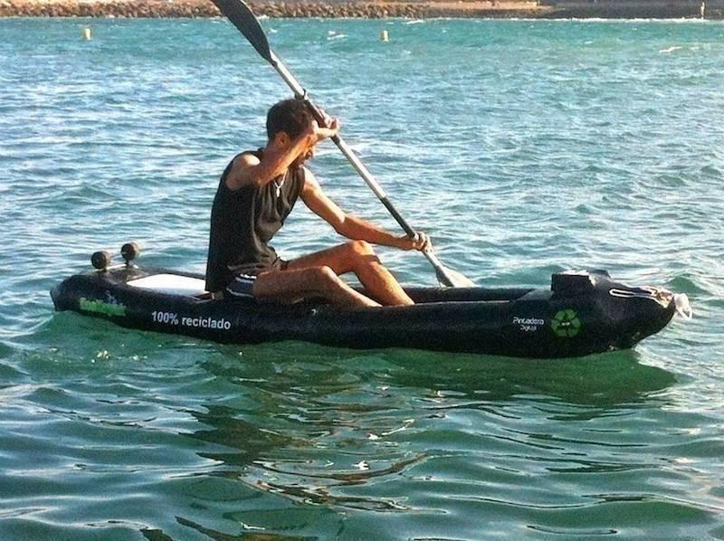 Cómo hacer un kayak con botellas de plástico