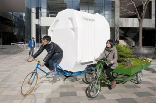 La casa triciclo móvil de China