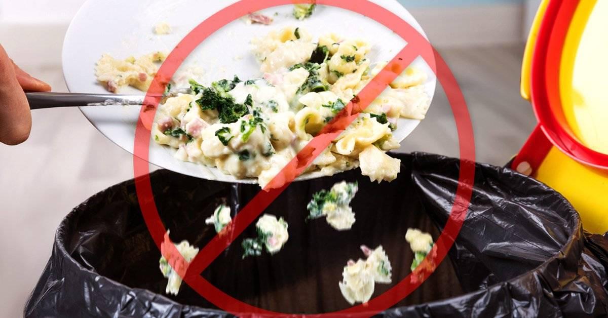 5 formas de evitar desperdiciar la comida en casa