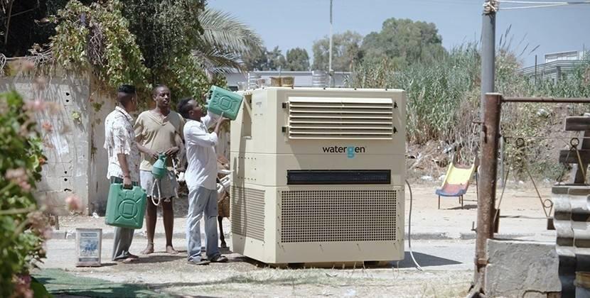 Una máquina que produce agua potable a través del vapor